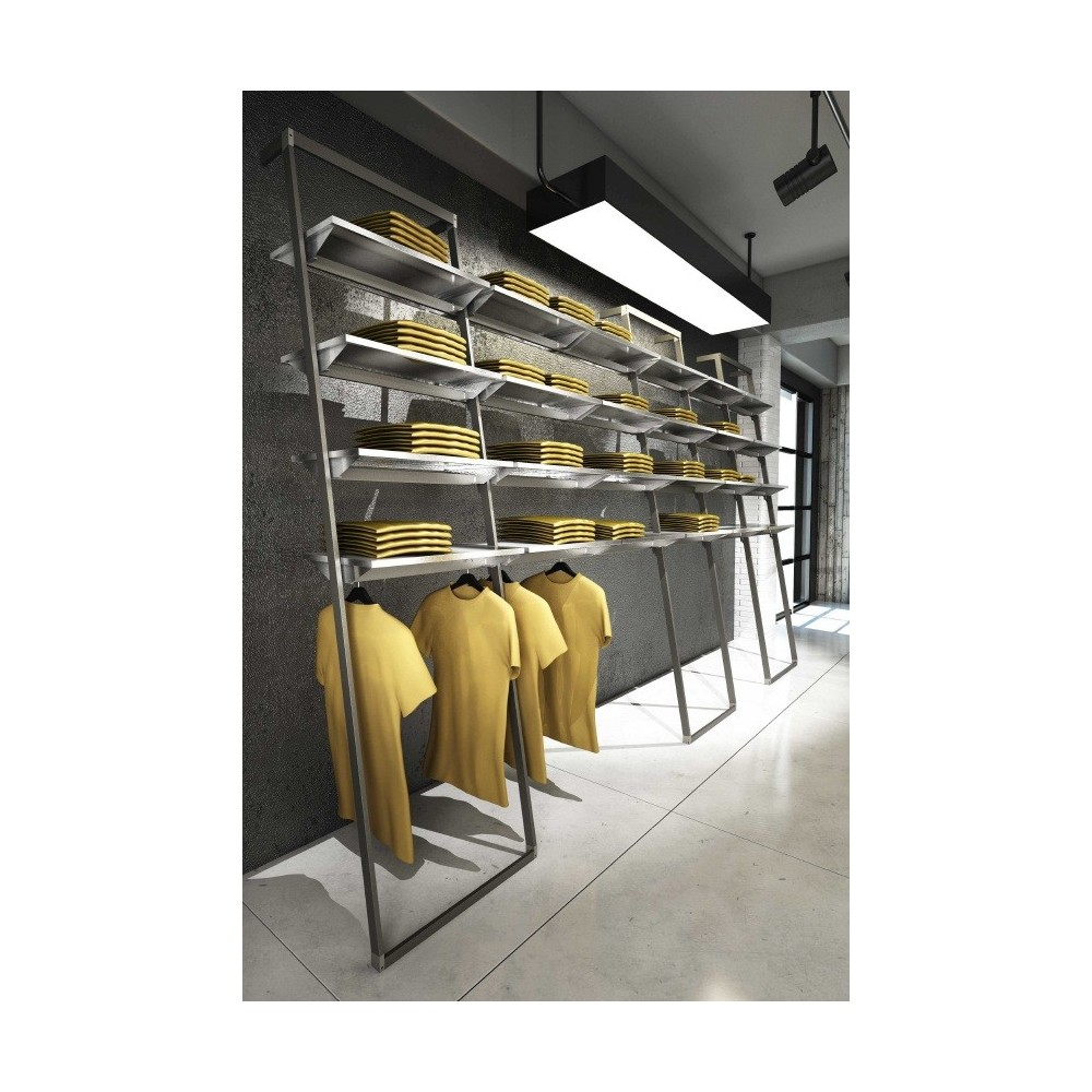 Agencement magasin accrochage mural en m tal l55 for Meuble mural modulable