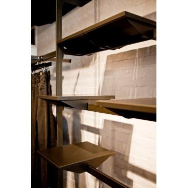 Barre L.61 cm, barre de penderie, barre portant, mobilier pour agencement de commerces montpellier, paris, lyon, toulouse, nice