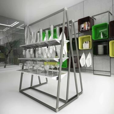 Etagère Métal L.38 cm, etagere pour portant magasin, agencement de commerce montpellier, perpignan, biarritz, saint jean de luz,