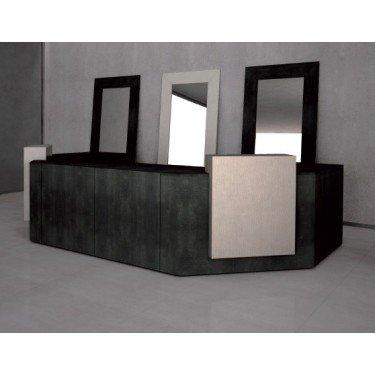 Comptoir de caisse et d'accueil 4BC entierement modulable, personnalisable et fonctionnel. mobilier pour agencement de magasins