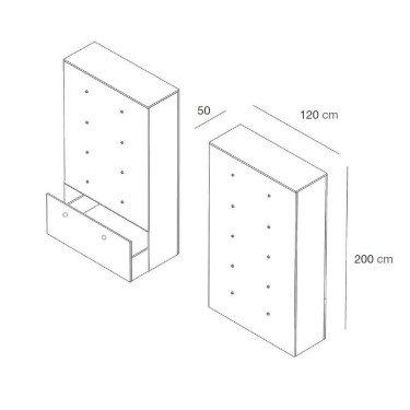 Meuble auto-portant pour agencement de magasin & fond de vitrine Personnalisable. Mobiliers Standards & Sur-mesure Aménagement
