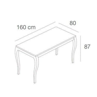 Table d'exposition L.160 cm, table de pliage, table pour agencement et equipement de magasin montpellier, paris, cannes, monaco,