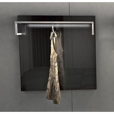 L 6 mobilier pour agencement de magasin design et innovant, panneau à accrochage mural et portant pour commerce de vetement haut