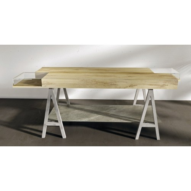 Table d'exposition ARCHI avec vitrine, teble de présentation marchande , agencement de magasin paris, monaco, lyon, bordeaux,