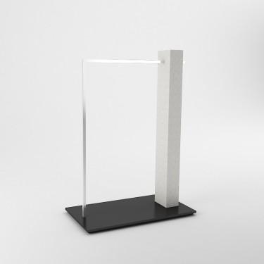 L 4// Portant magasin Design avec Facing, choisissez la finition de la base et du montant, agencement Montpellier Paris, aix,