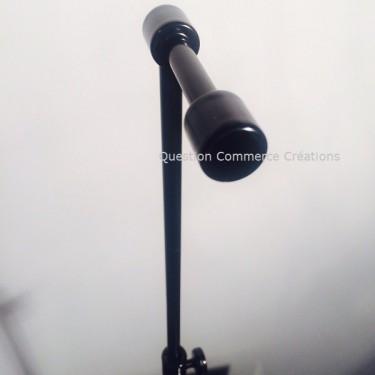 Présentoir Sac VANITY Noir, hauteur réglable de 49 à 80 cm , peut être utilisé comme présentoir à chapeau, agencement montpellie