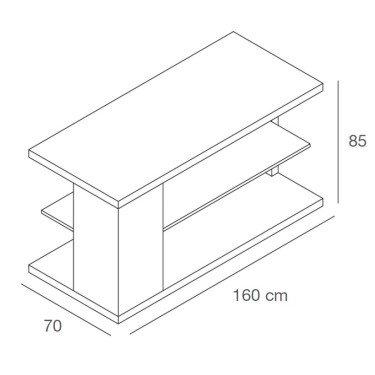 TABLE L 3 exposer, présenter, stocker descriptif technique agencement de magasin, equipement commerce montpellier, paris