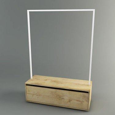 Portant avec tiroir h.160 Retail Design