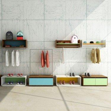 Portant Rainbow avec tiroir de stockage personnalisable pour renforcer l'identité et la performence de votre commerce