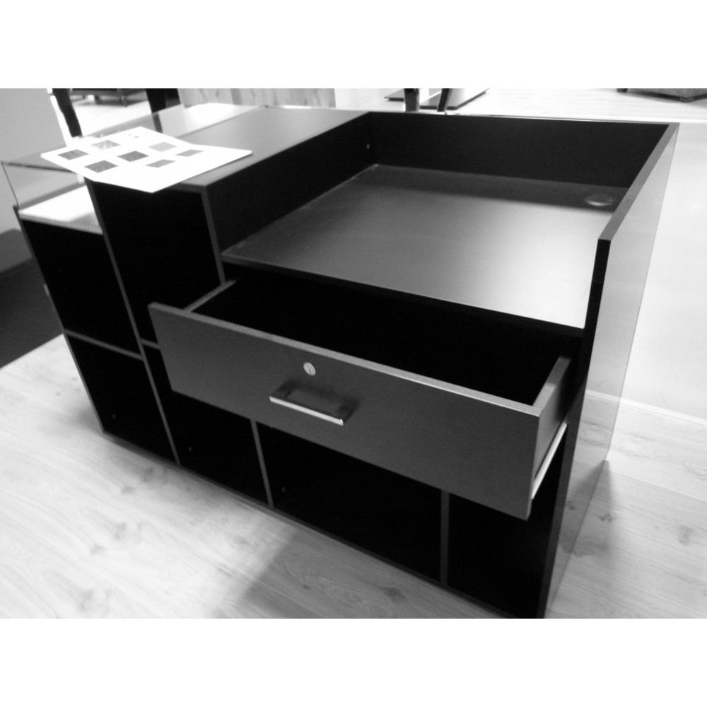 comptoir design personnalisable fonctionnel avec vitrine agencement. Black Bedroom Furniture Sets. Home Design Ideas