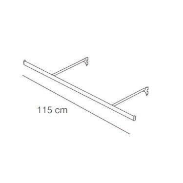 Barre de penderie L.115 cm