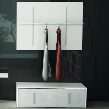 Barre de penderie L.115 cm, agencement de magasin montpellier, mobilier professionnel magasin, equipement de magasin paris