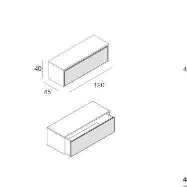 Podium tiroir Personnalisable L.120 cm, meuble de rangement pour stockage et agencement de magasin paris, lille, montpellier,