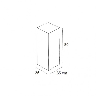 Podium 80 cm LINEA 6 decoration de magasin, agencement de magasin et de vitrine