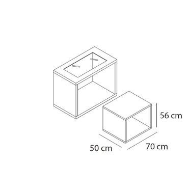 Ensemble 2 Tables ELLES small, finition au choix pour chaque table, agement et equipement de magasin montpellier, paris