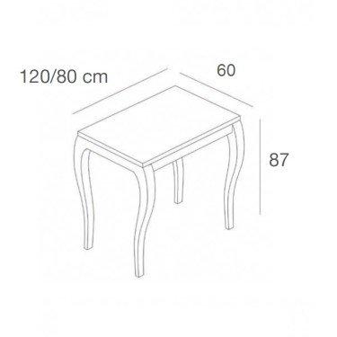Table d'exposition L.160 cm, mobilier professionnel pour agencement et équipement de magasin paris, nice, montpellier, aix, lill