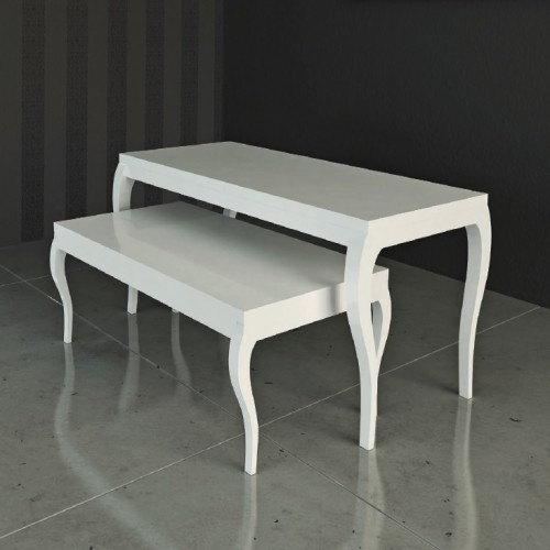 Table Gigogne L.120 x P.60, table de presentation marchande, mobilier pour magasin, agencement de magasin, equipement magasin mo