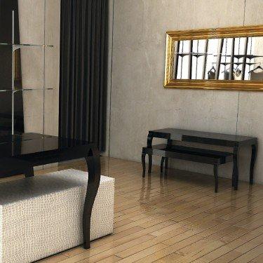 Table gigogne nouveau baroque L.90 cm