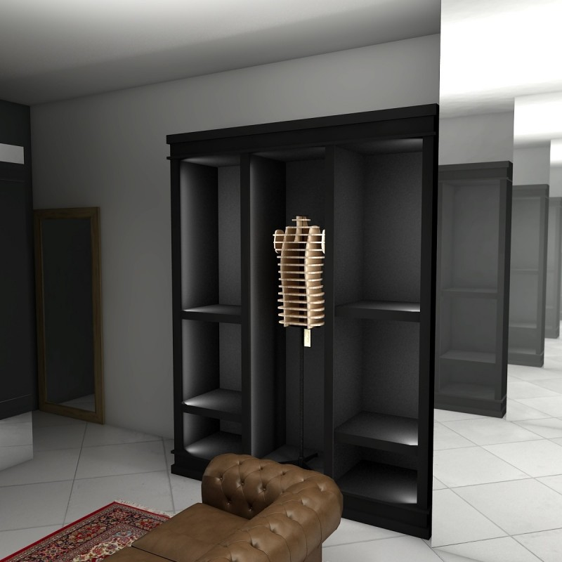 armoire de presentation et d 39 exposition modulable etag re penderie. Black Bedroom Furniture Sets. Home Design Ideas