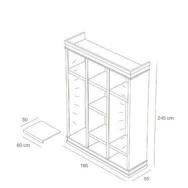 Armoire d'exposition L.190 x H.245 cm, mobilier professionnel pour agencement et équipement de magasin, commerce, montpellier, p