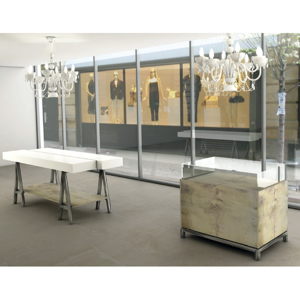 vitrine d 39 exposition pour agencement de magasin avec socle et tiroir. Black Bedroom Furniture Sets. Home Design Ideas