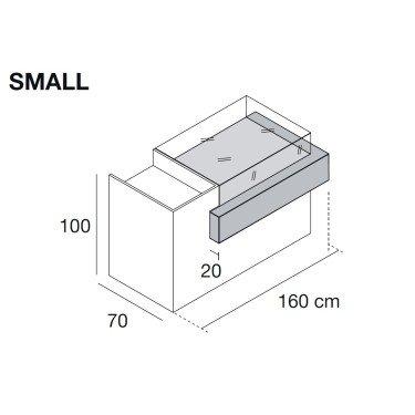 Comptoir magasin Linea 4 Small et Large entièrement personnalisable parmis un nuancier de 20 couleurs et finitions, mobilier mag