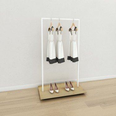 Portant vêtement Bois et Métal Retail Design Slim3