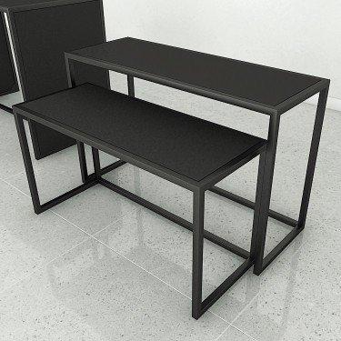 Table d'exposition Retail design 2 pour agencement de magasin, ilot pour magasin, déco vitrine