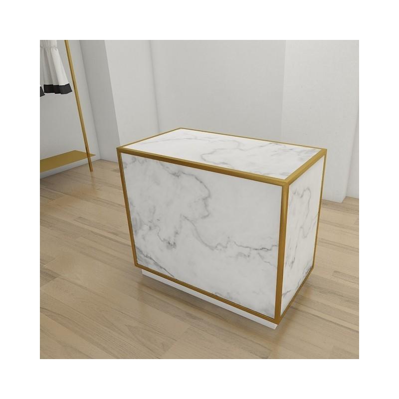 comptoir d accueil de caisse pour magasin or laiton. Black Bedroom Furniture Sets. Home Design Ideas