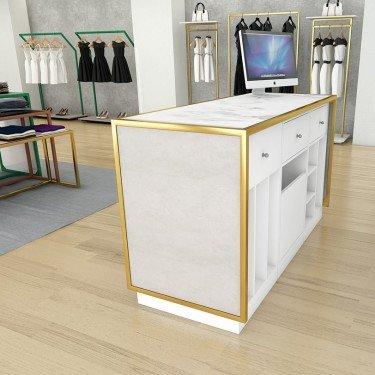 Module pour aménagement de Comptoir caisse, comptoir d'accueil, comptoir magasin Retail Design