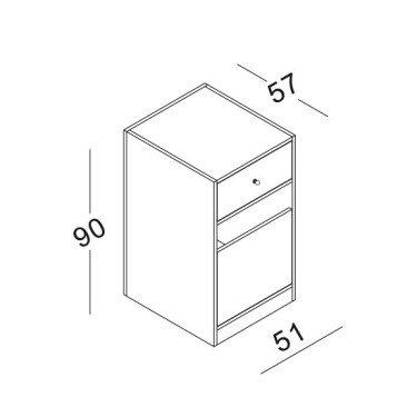 Module 2 pour Comptoir magasin Retail Design. Comptoir caisse design et fonctionnel pour agencement magasin