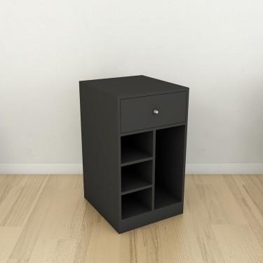 Module 3 pour aménagement Comptoir magasin Retail Design. Comptoir Or, Laiton, Blanc, Noir, Brut bois et métal