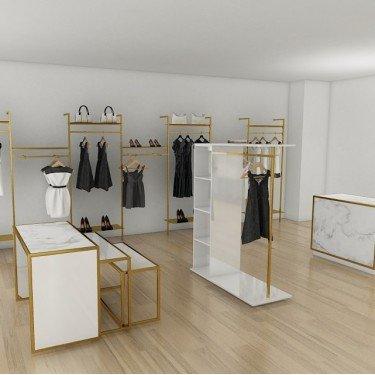 Portants Vêtements Etagères Retail Design