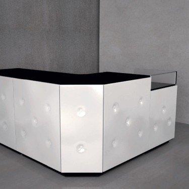 Comptoir de caisse et d'accueil à composer pour agencement de commerce, boutique, bureau, magasin Store