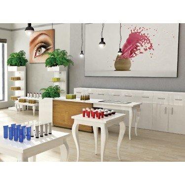 Comptoir magasin DIVINE, comptoir de caisse design, equipement de magasin, agencement de commerce montpellier, paris, lyon, aix