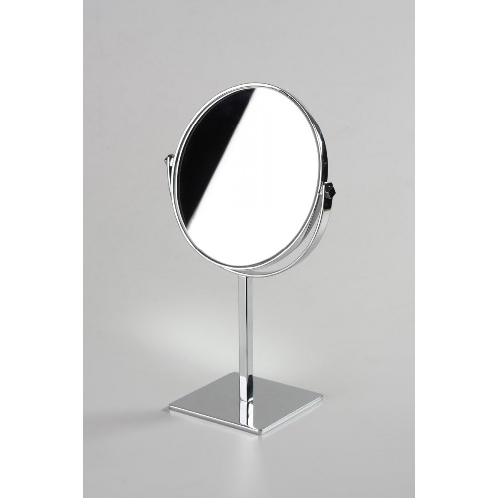 Miroir rond double face poser comptoir table for Miroir a poser sur table