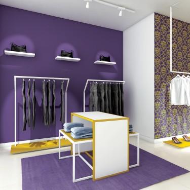 Table de présentation boutique pour agencement de magasin. Set 3 Tables Gigognes Retail Design