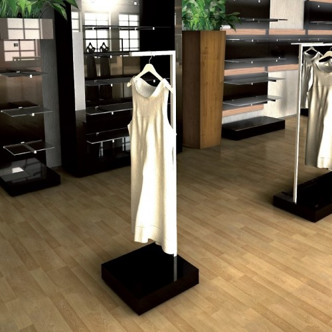 Portant vêtement pour magasin, portant professionnel droit , en facing. Une autre vision de l'agencement de magasin