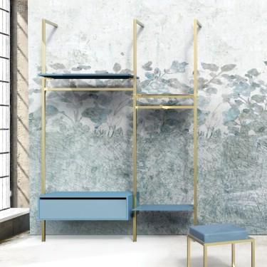 Etagère bois L.57 cm Agencement mural Retail Design