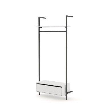 Penderie en métal agencement magasin Retail Design