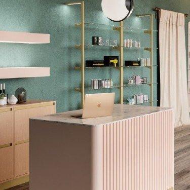 Etagère Verre agencement Retail Design L.57 & 87 cm