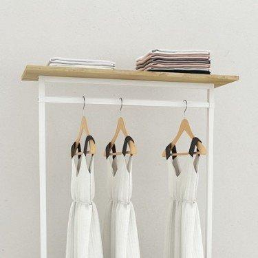 Portant vetement avec étagère, optimiser son agencement de magasin