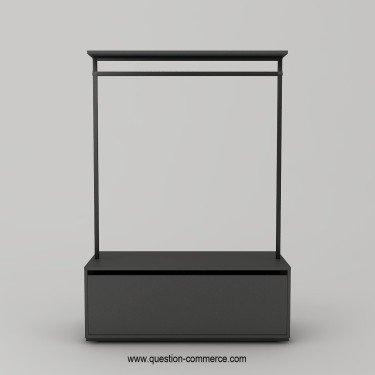 Portant avec tiroir pour agencement de magasin design. CORNER H.172