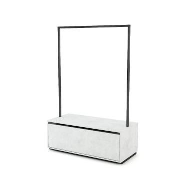 Portant avec tiroir h.180 Retail Design