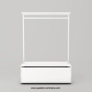 Portant vêtement avec étagère et penderie avec tiroir pour optimiser son agencement de magasin - Question Commerce