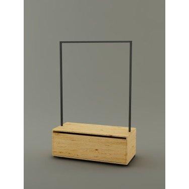 Portant à vêtement avec tiroir de stockage personnalisable pour renforcer l'identité et la performence de votre commerce