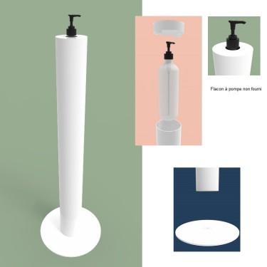 Distributeur Gel Hydroalcoolique - Borne Universelle POMP UP gel hydro-alcoolique - colonne distributeur gel hydro alcoolique