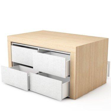 Table Merchandising avec tiroir CONCEPT STORE - Meuble présentoir pour magasin avec stockage - Optimisez votre agencement de mag