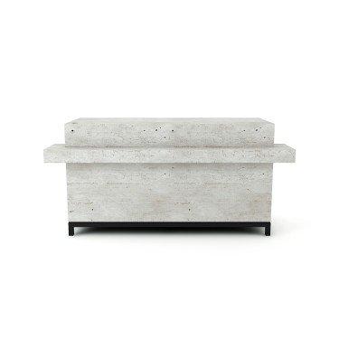 Meuble comptoir pour magasin ARCHI au design affirmé et à la fonctionnalité optimisé.