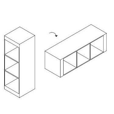 Meuble 3 niveaux Linea Due meuble de rangement pour magasin, meuble d'exposition pour magasin, meuble stockage pour agencement